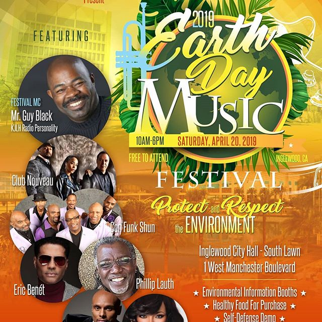 Check out CLUB NOUVEAU Saturday, April 20th, 2019 For Earth Day in Inglewood, Ca and its FREE!!! So share & spread the word!!!