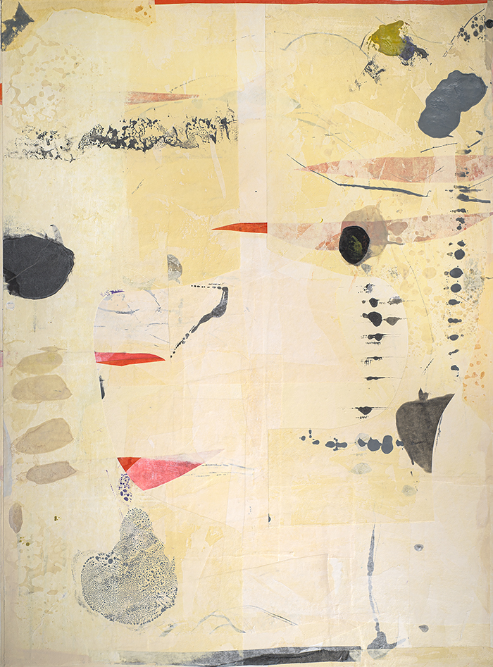 The Cure of Pain is in the Pain web, encaustic and Japanese papers, 48x36, 2019[1].jpg