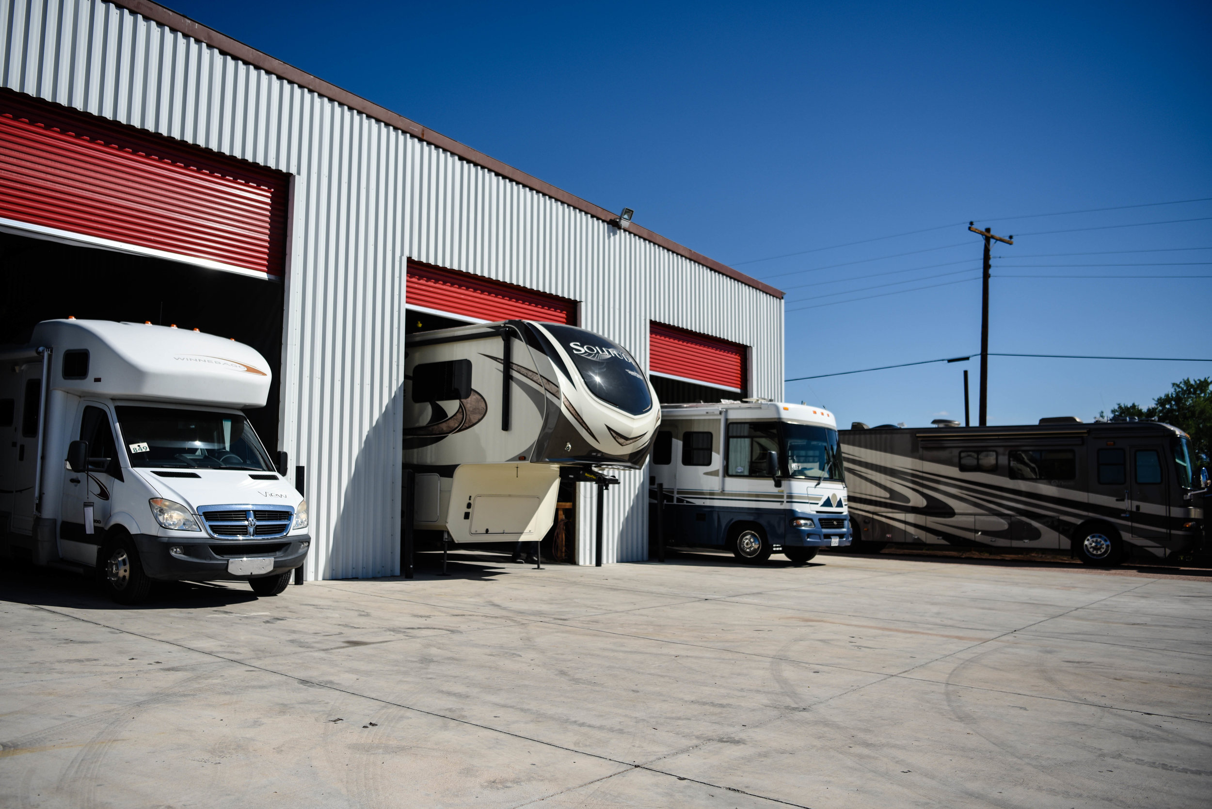 Your RV is Safe & Secure - We Have Built Our 1 acre Facility Safe and Secure.We Want you to be worry free during the repair process, and have gone further by recently adding 15k sqf of enclosed work space' keeping your RV out of the elements during body paint and roofing procedures.