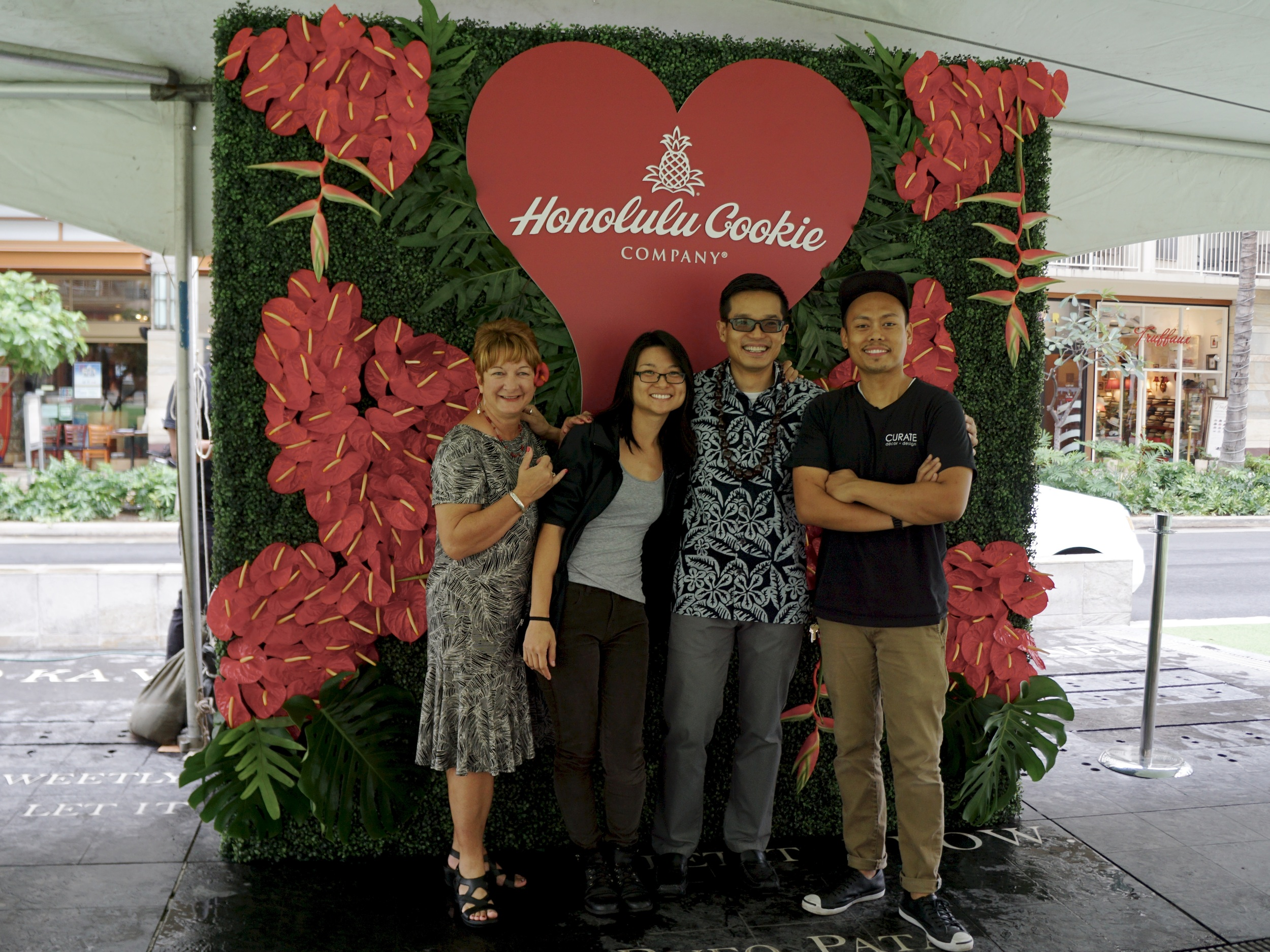From Left:Julie Plant (Honolulu Cookie Company),Janet Tran (Designer),Herman Tam (Honolulu Cookie Company), and Abner Aquino (CURATE decor + design)