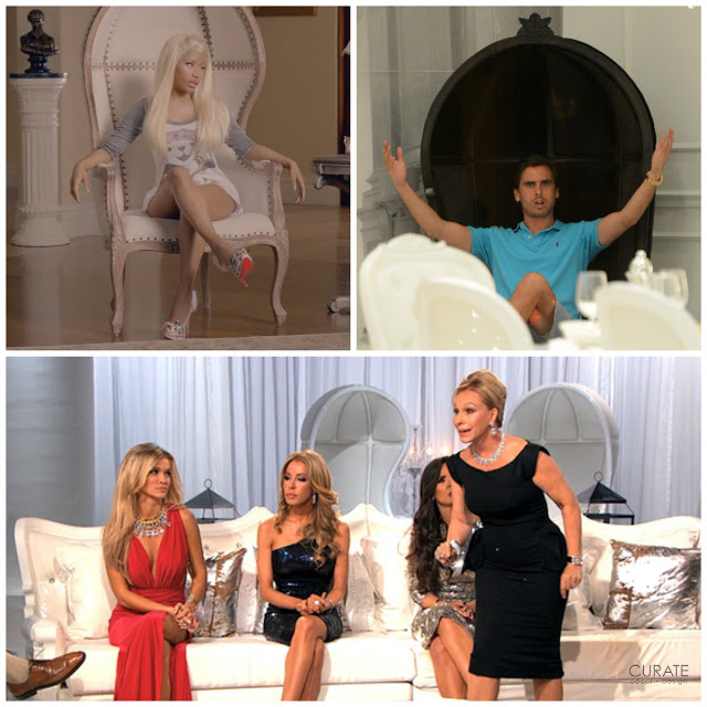 Clockwise from the top: Nicki Minaj (rapper/songwriter), Scott Disick (Keeping Up with the Kardashians), Real Housewives of Miami