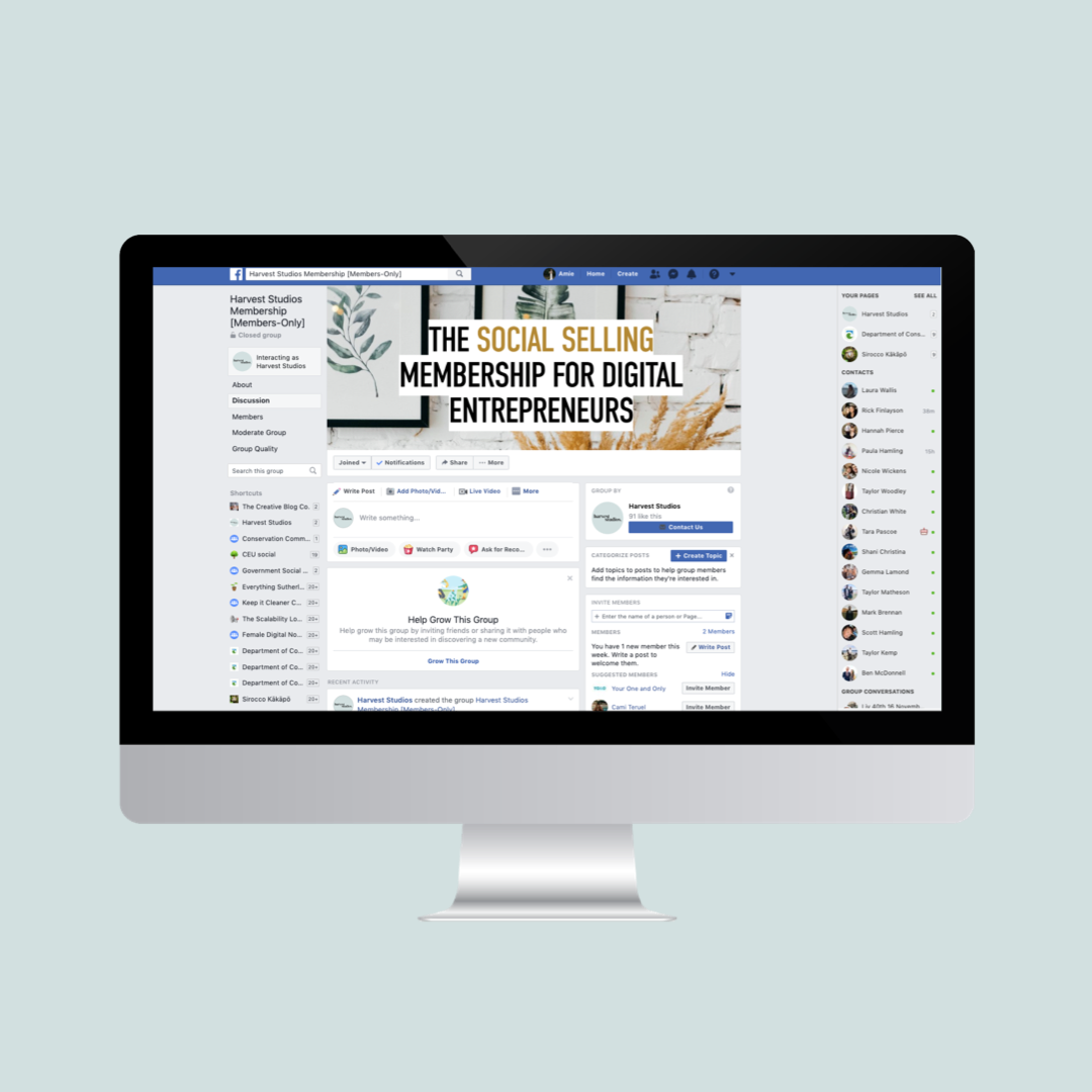 Mastermind with Like-minded Digital Founders - Be part of an online community that understands social media and digital marketing strategy. Create meaningful connections and access a members-only Facebook group.