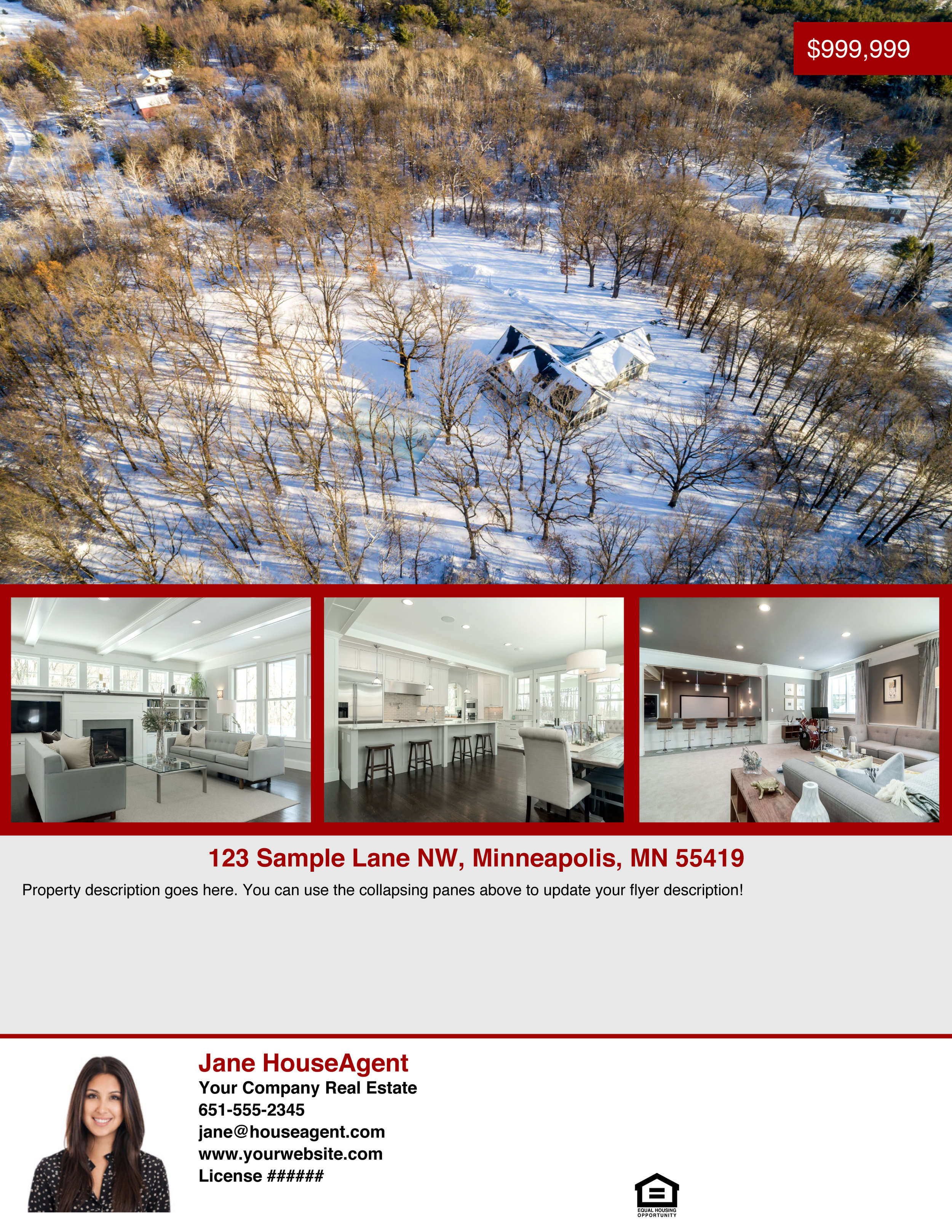 Property Flyer - Here is an example of our flyer builder - you are able to fully customize the images, colors, logos, and description for all of your branding needs!