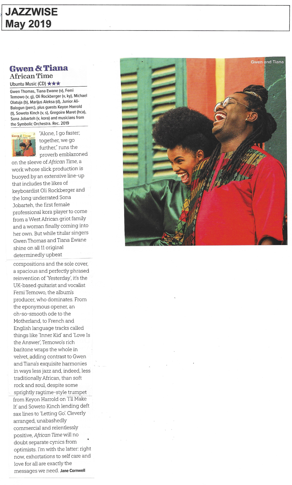 Jazzwise May 2019 review African Time.png
