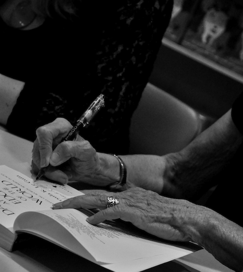 Hands: Pharos book signing at Powell's Books — Photo by Moira McAuliffe