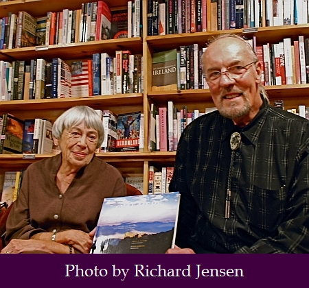 Ursula and Roger Dorband — Looking Glass Books. Out Here book launch party. Photo by Richard Jensen