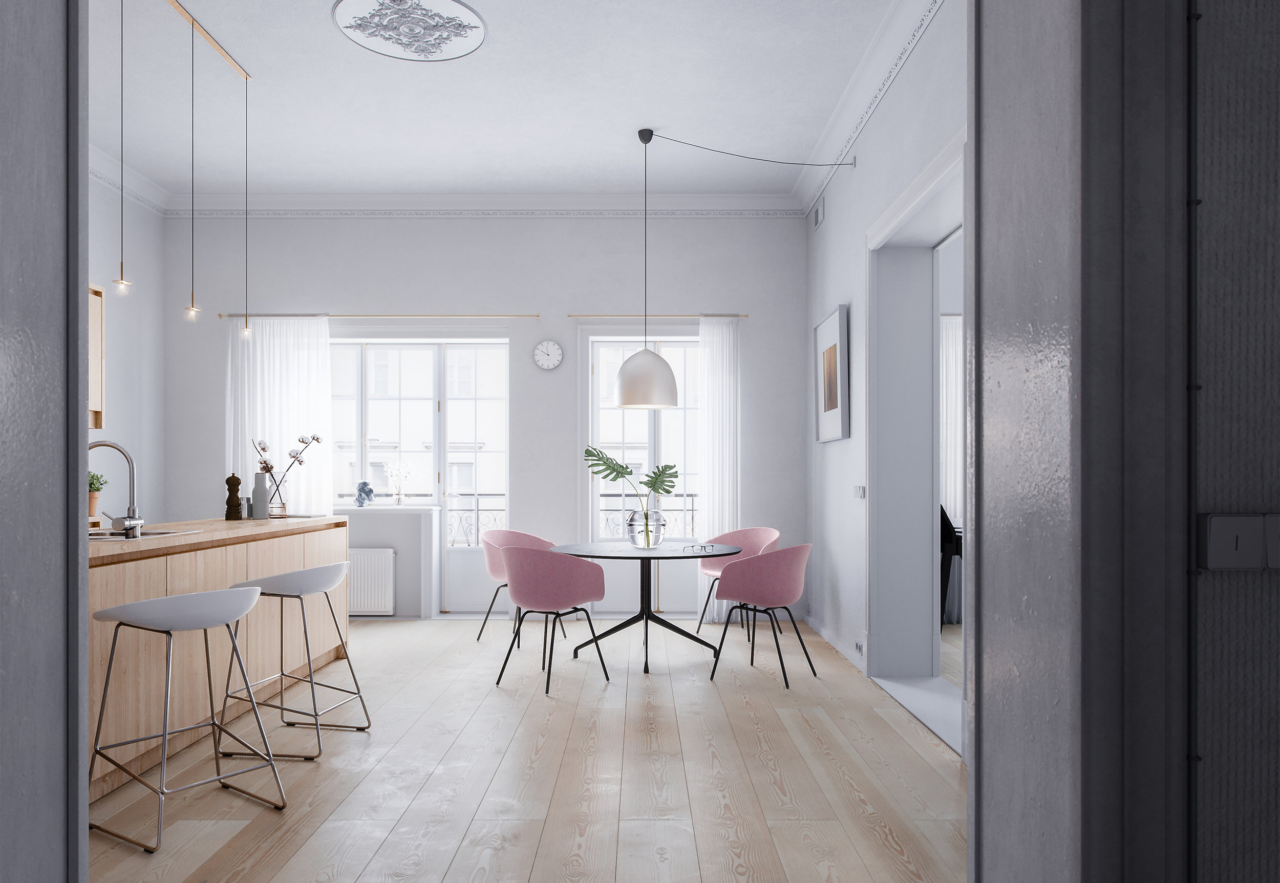 Nordic Living - Kitchen -  Visualisation by Mike Dugenio.jpg