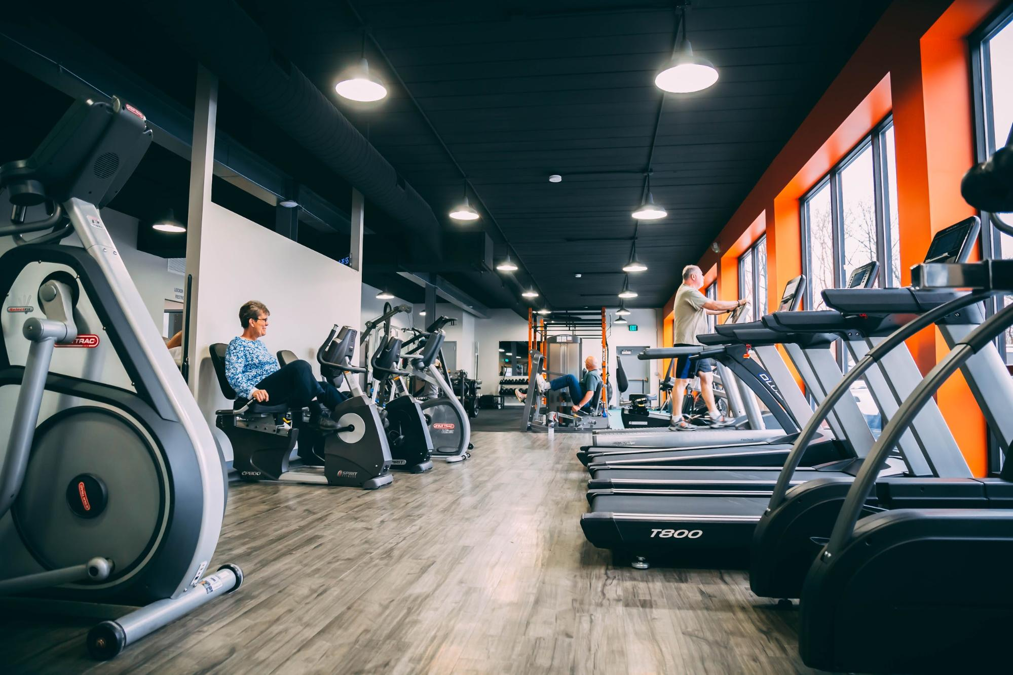 Lattimore Fitness Gym with bikes and treadmills