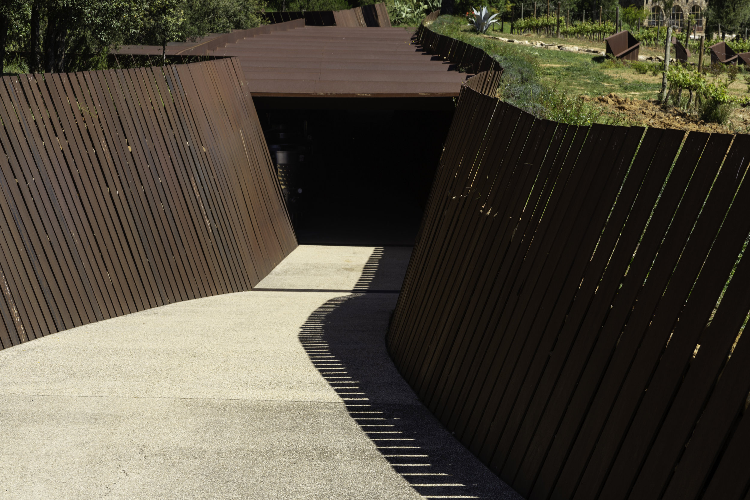 The entrance to the winery