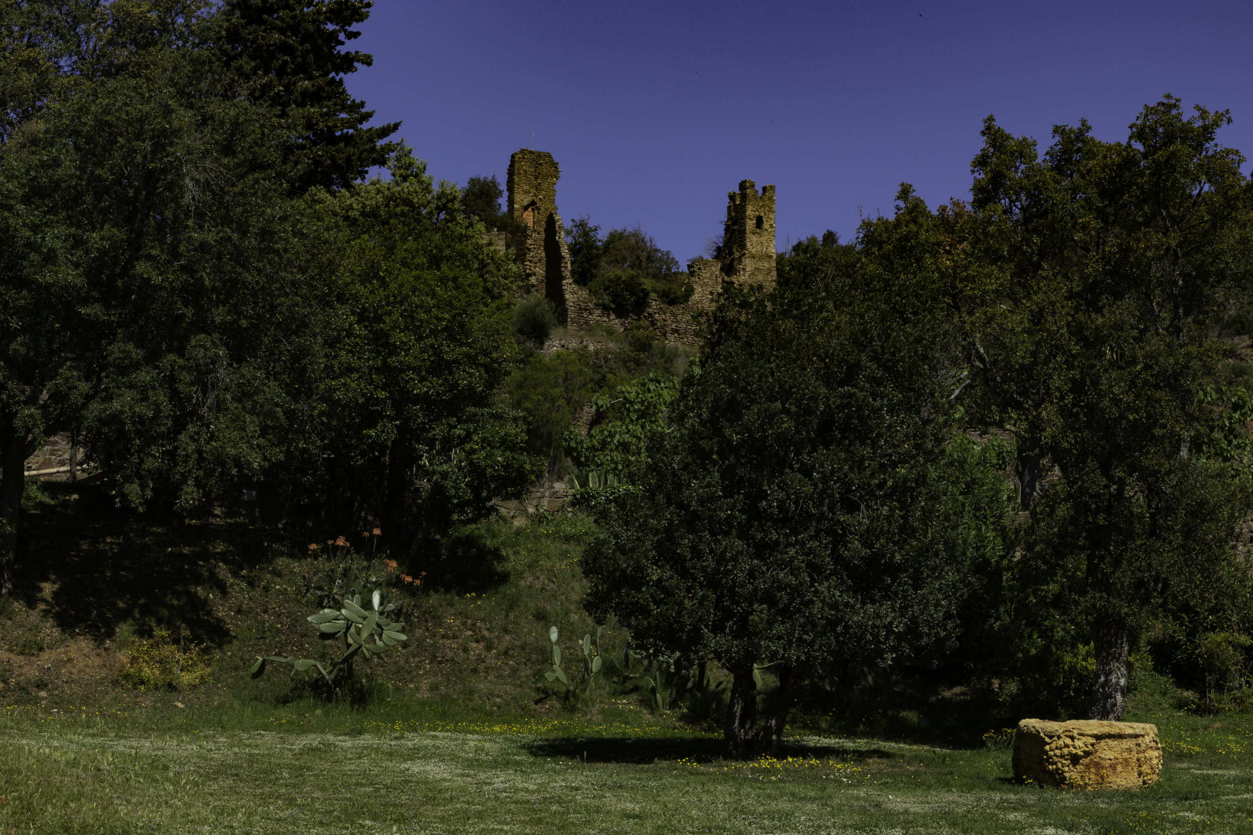 The old castle which was destroyed by Napoleons forces