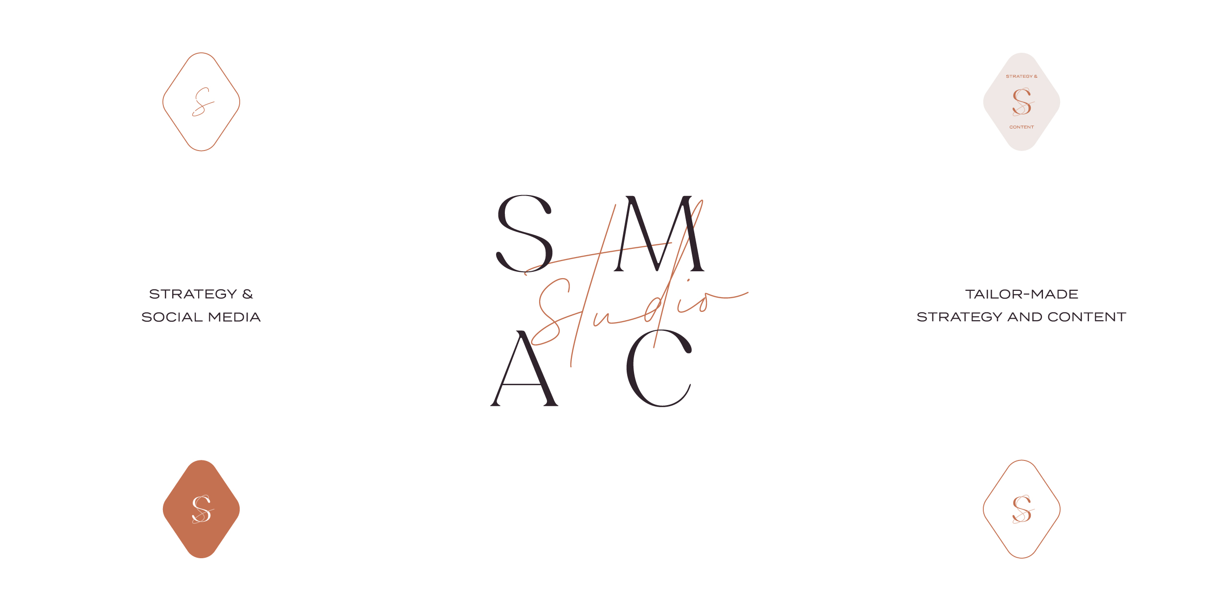 Brand Design and Strategy and Website Design by Lorin Galloway of Freckled Design Studio for SMAC Studio, specialising in social media strategy and content solutions