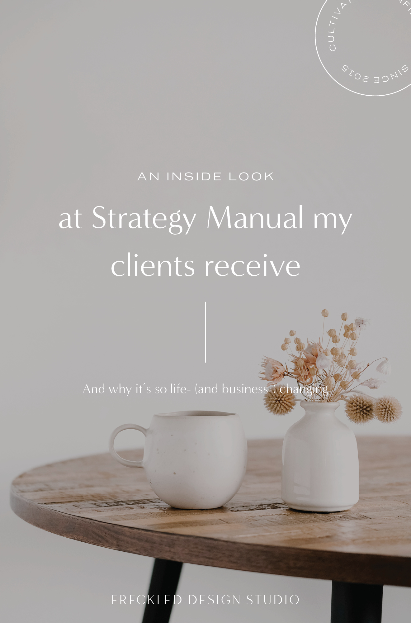 A complete breakdown of the strategy manual my clients receive and why it's so transformative for their businesses!  Click through to schedule your free 30-minute call with a brand strategist.