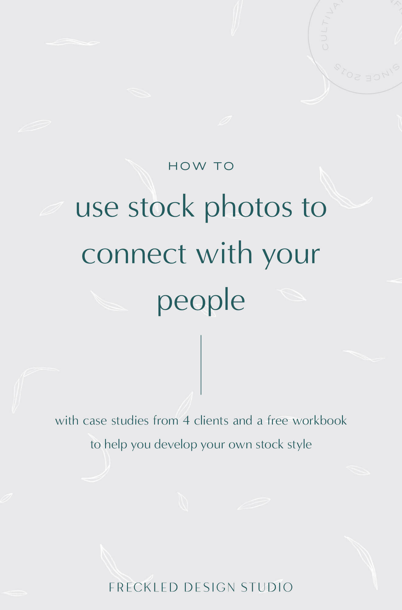 If you're feeling very inspired but a tiny bit stuck, I've created a workbook to help you curate your own library of stock images that speak to your people and share your story in a compelling way!
