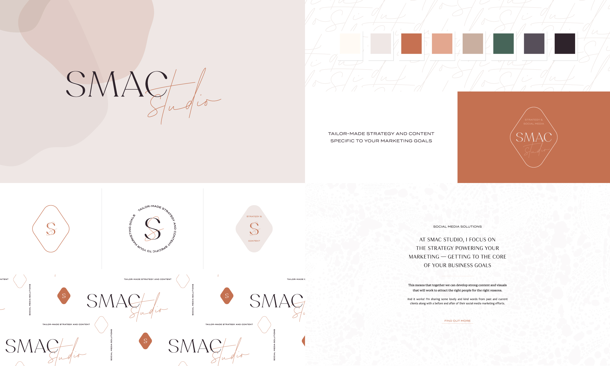 SMAC Studio branding and strategy by Freckled Design Studio