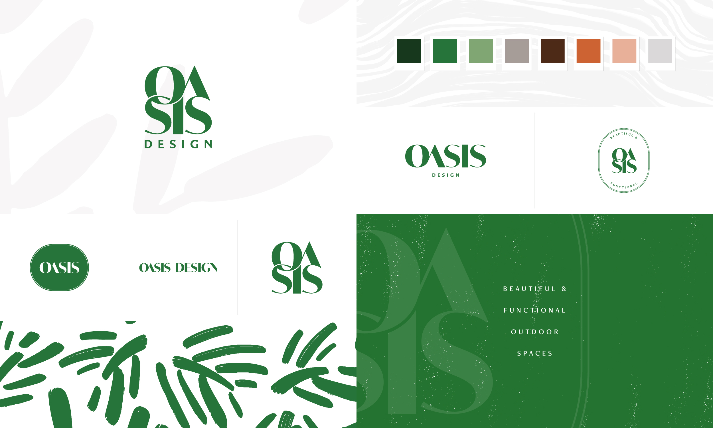 Oasis Design branding and strategy by Freckled Design Studio