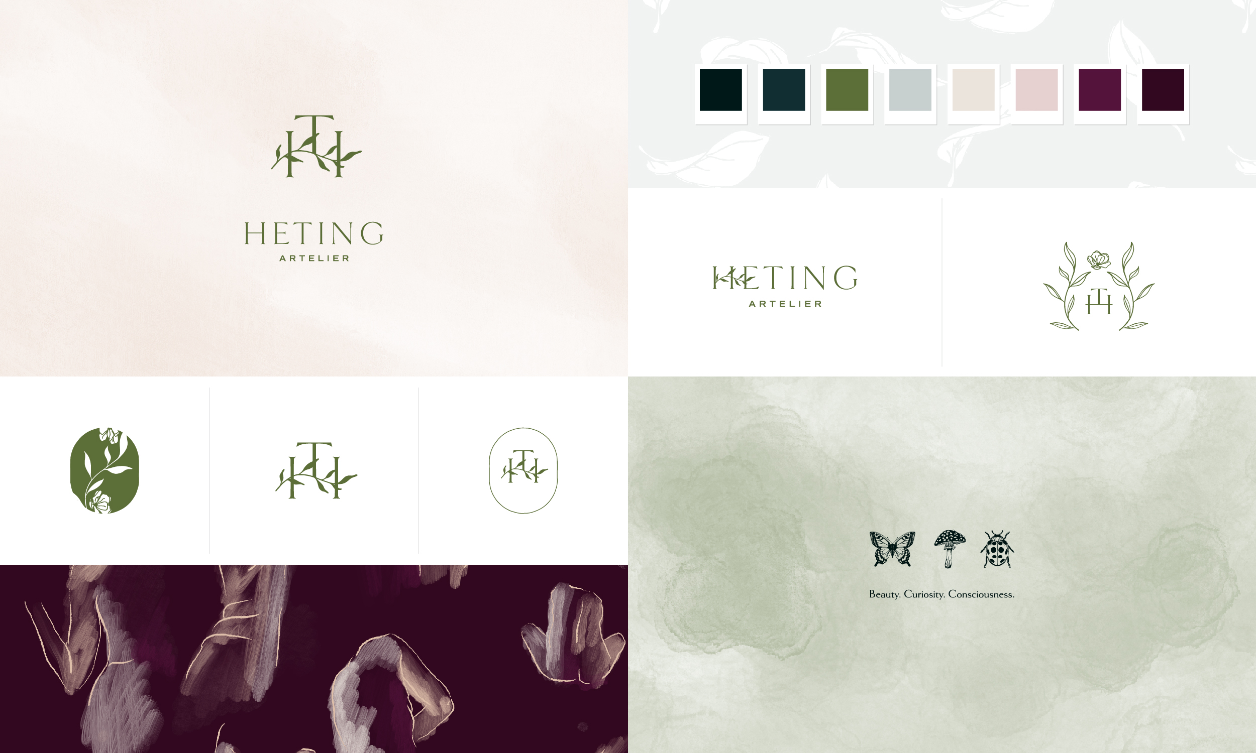 Heting Artelier branding and strategy by Freckled Design Studio