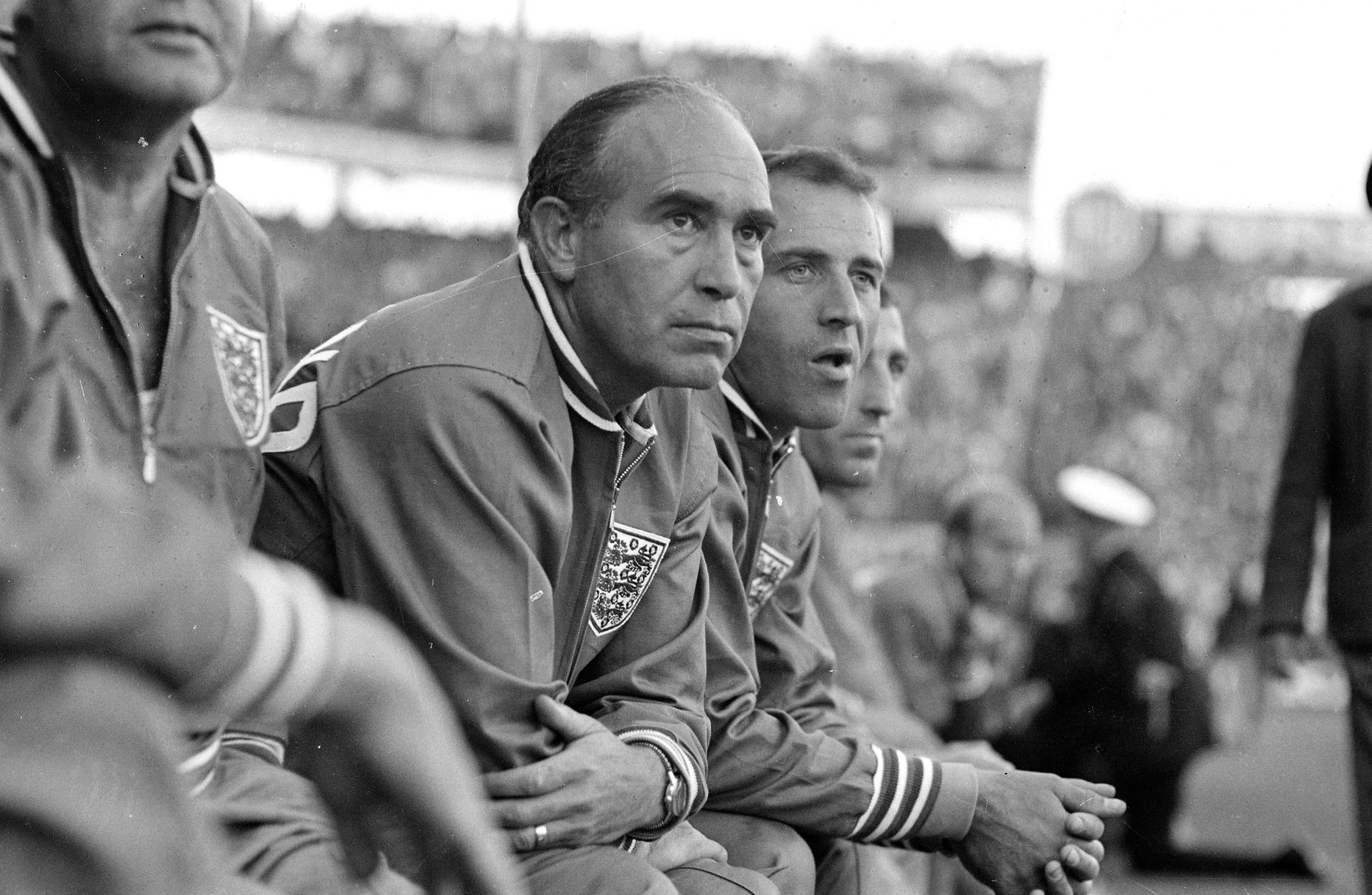 Alf Ramsey, player at Tottenham Hotspur 1949-55; England manager 1963-74