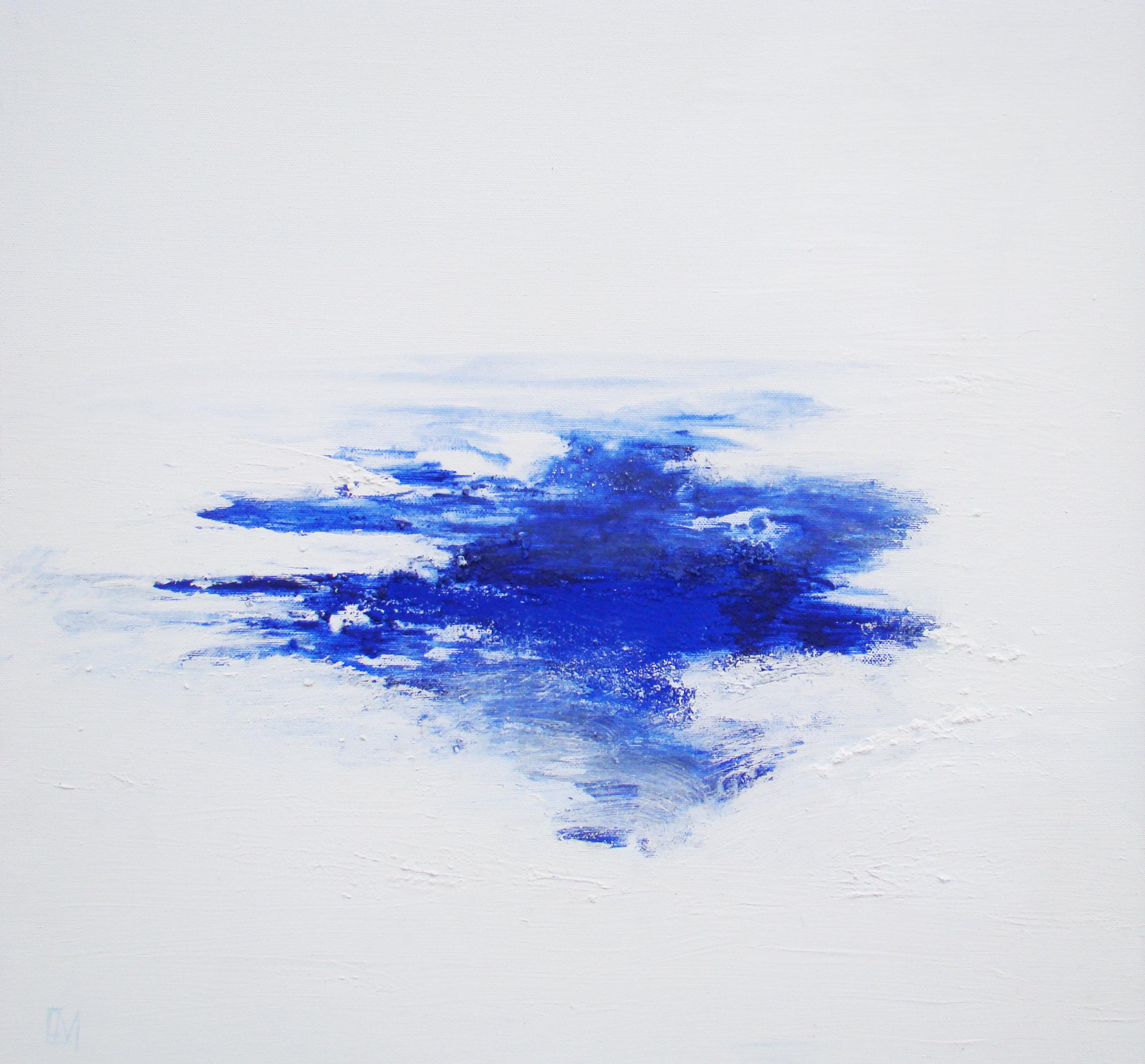 Pigments sec sur toile