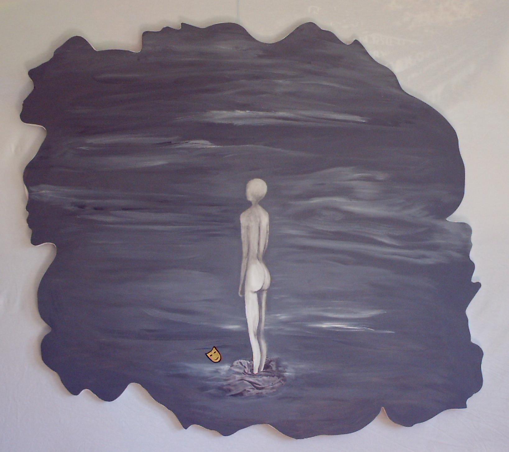 La forme nous informe - La forme nous informeLe lien entre extérieur et intérieur passe par l'aperçu de la forme.La forme nous in-forme de l'invisible, de l'in palpable.Les toiles coupées en multi visages comme un morceau de puzzle découpé dans le grand UNLa forme nous !n-forme du retour au sans forme, « l'invisible »
