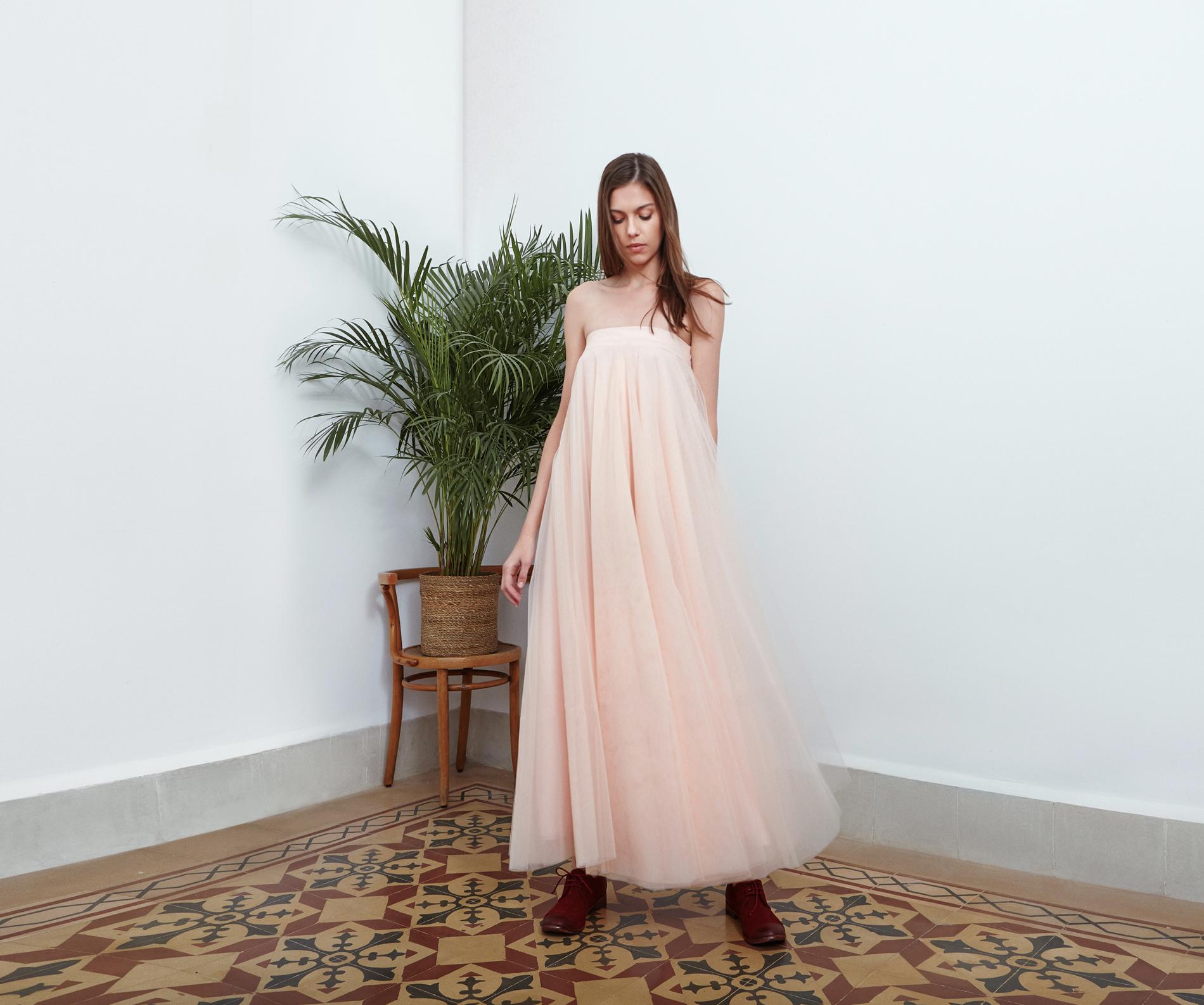 Lara Khoury | Eudemonia Spring 2019 | look 3-2 | Strapless Pastel-Pink Tulle Dress.jpg
