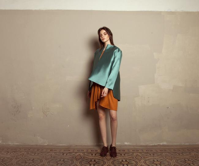 Lara Khoury | Iolanda Fall 2019 | look 5 | Turquoise Oversize Jacket.jpg
