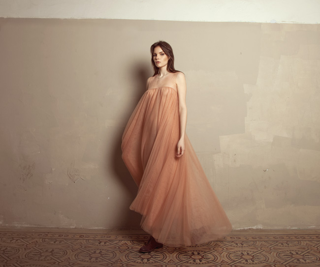 Lara Khoury | Iolanda Fall 2019 | look 15 | Pink Tulle Sleeveless Dress.jpg