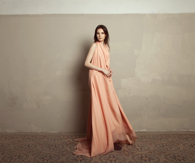 Lara Khoury | Iolanda Fall 2019 | look 21 | Floor Length Pink Muslin Halter Dress.jpg