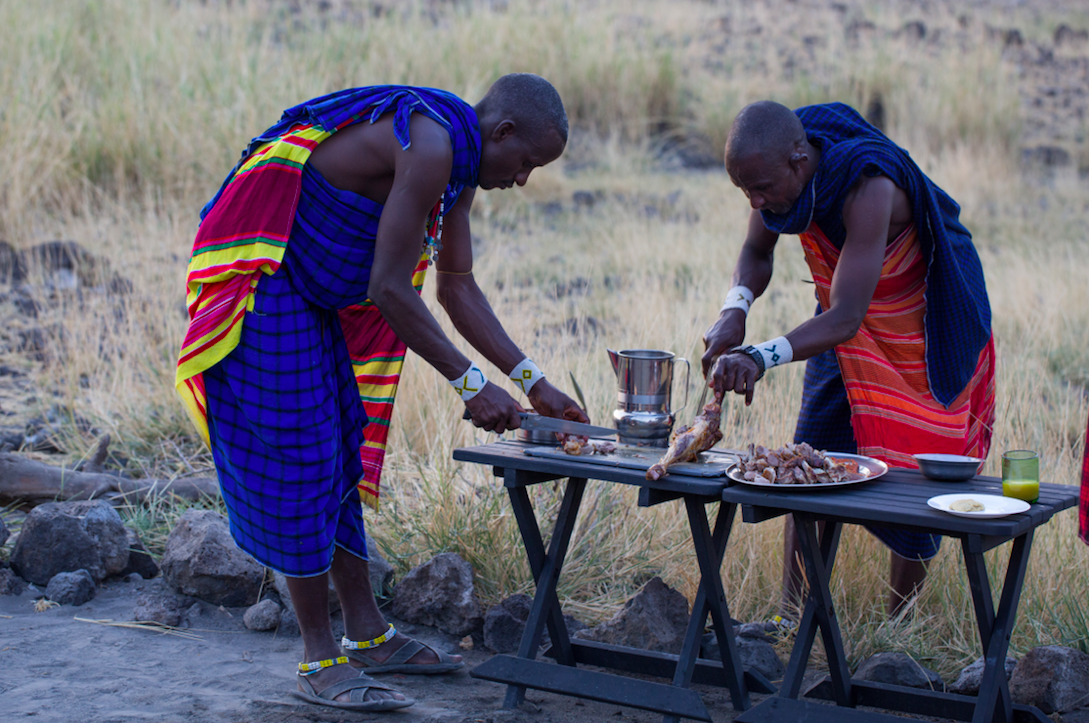 Traditional maasai BBQ -