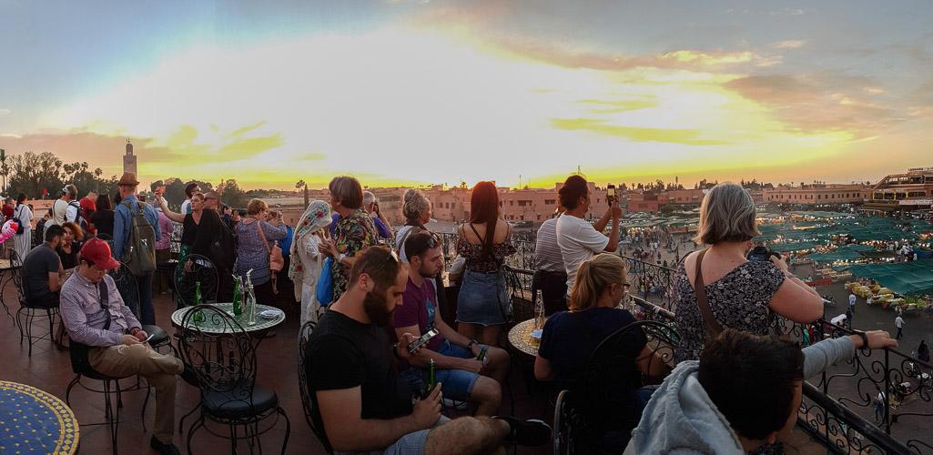Sunset on a Marrakech balcony