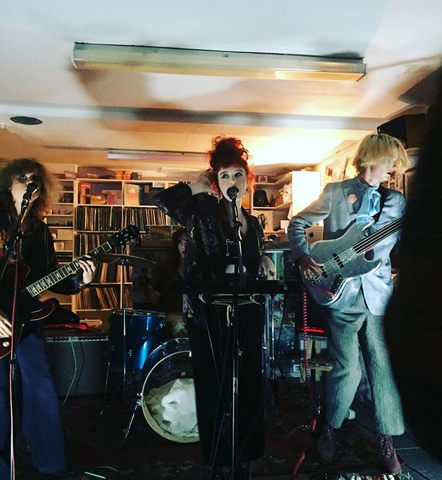 Some pics from last nighttt of us being spooky - thank you SO MUCH @flashbacklondon for having us and thank you to everyone who came - it was a v special gig
