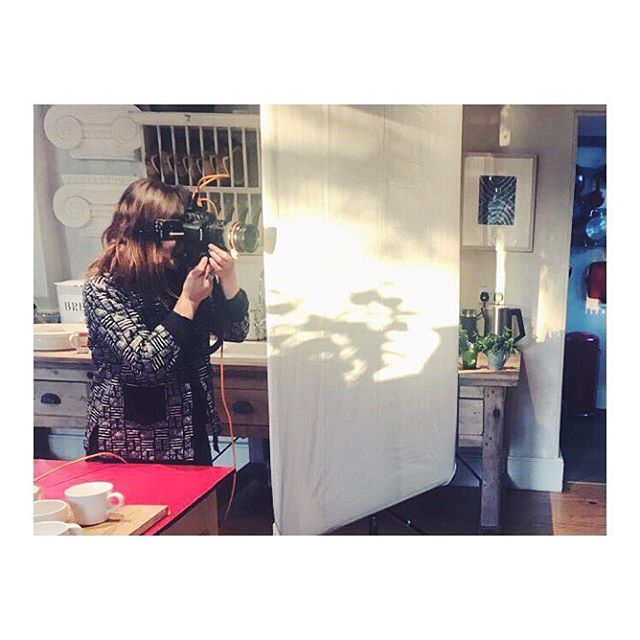 Action shot #rosieloveslight #lovemyjob wearing my print reversible jacket by the brilliant @humphriesandbegg