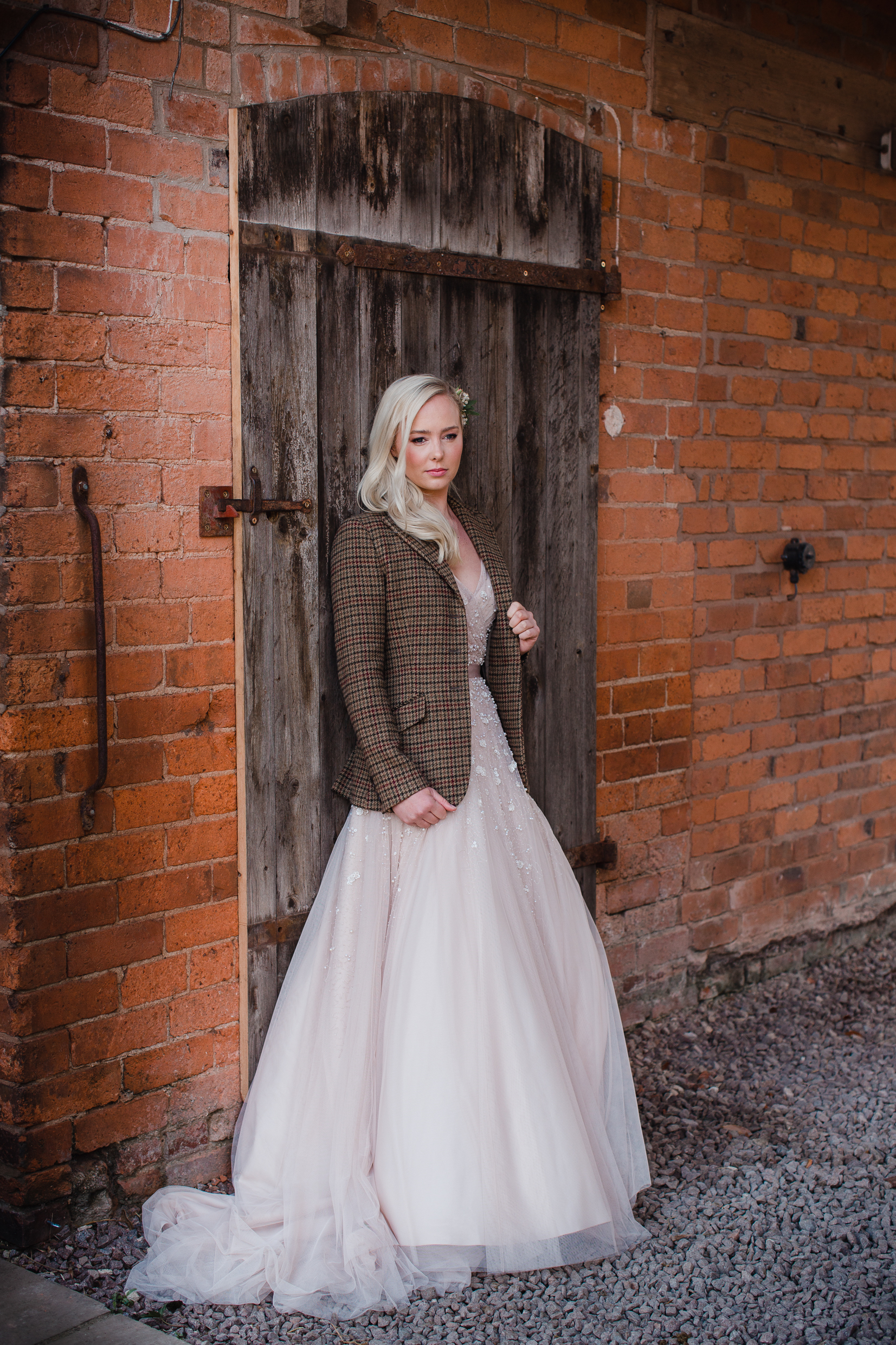 tweed jacket wedding dress