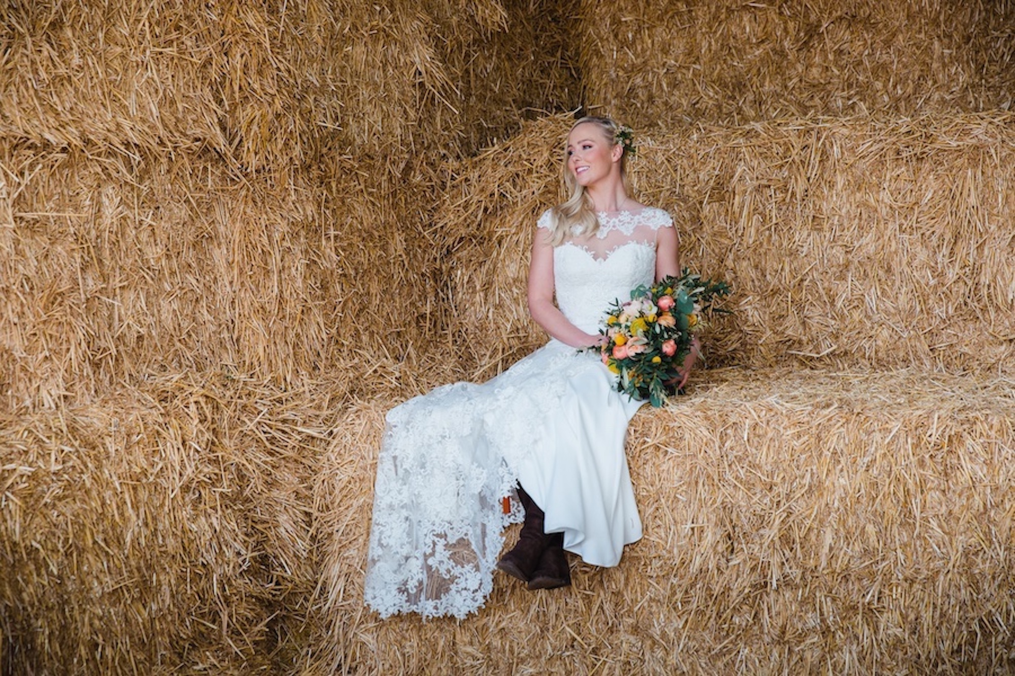 hay barn wedding