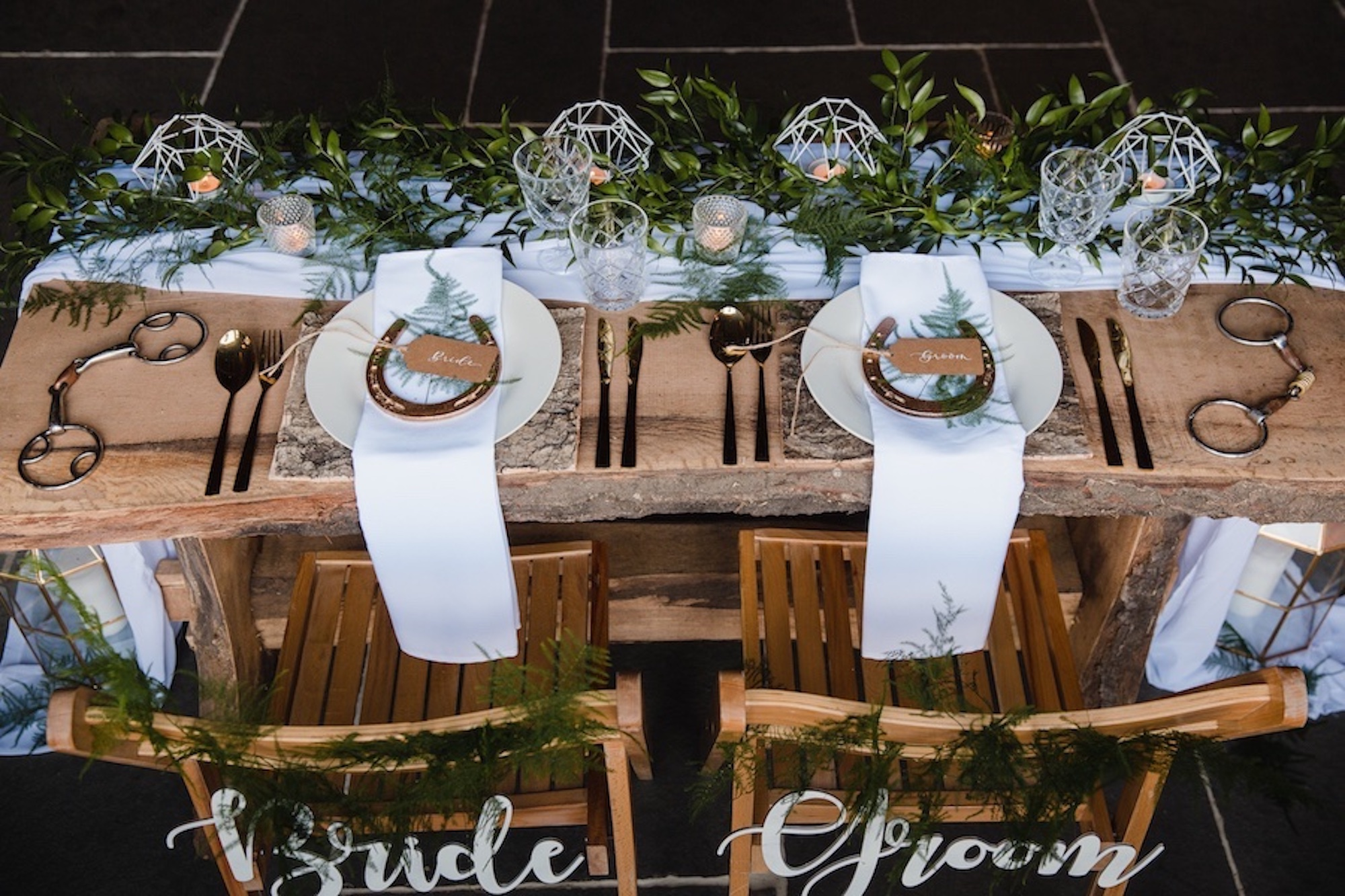 equestrian horse wedding styling
