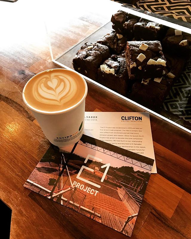 Come and start your Fringe weekend the right way @teviot.gildedgarden with a @cliftoncoffee and one of our handcrafted Brownies . . . #winningcombo #edinburghfringe #specialtycoffee #coffee #cliftoncoffeeroasters #brownies #lintonandco