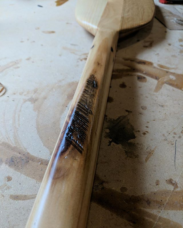 @damgoodsandgear killed it. Detailed reclaimed pine paddle, handmade in the Northland. #reclaimed