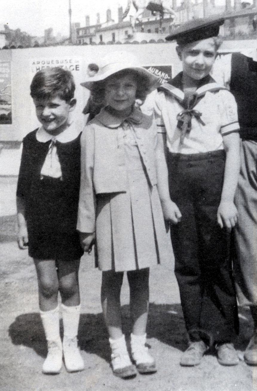 Photographie de Elie, Jacques et Janine, Goldschmidt, Lyon