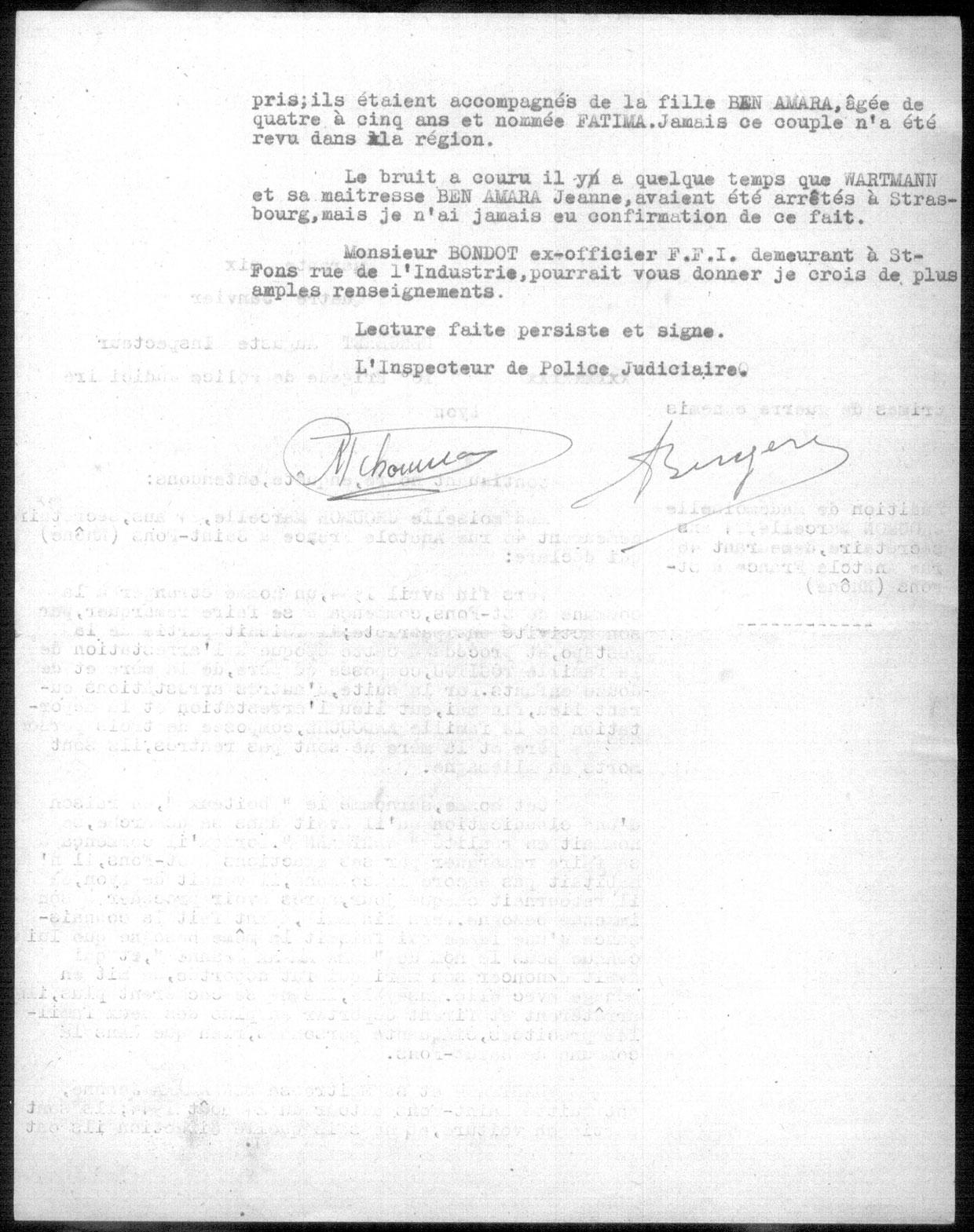 Procès verbal, page 2, Touitou, Saint-Fons