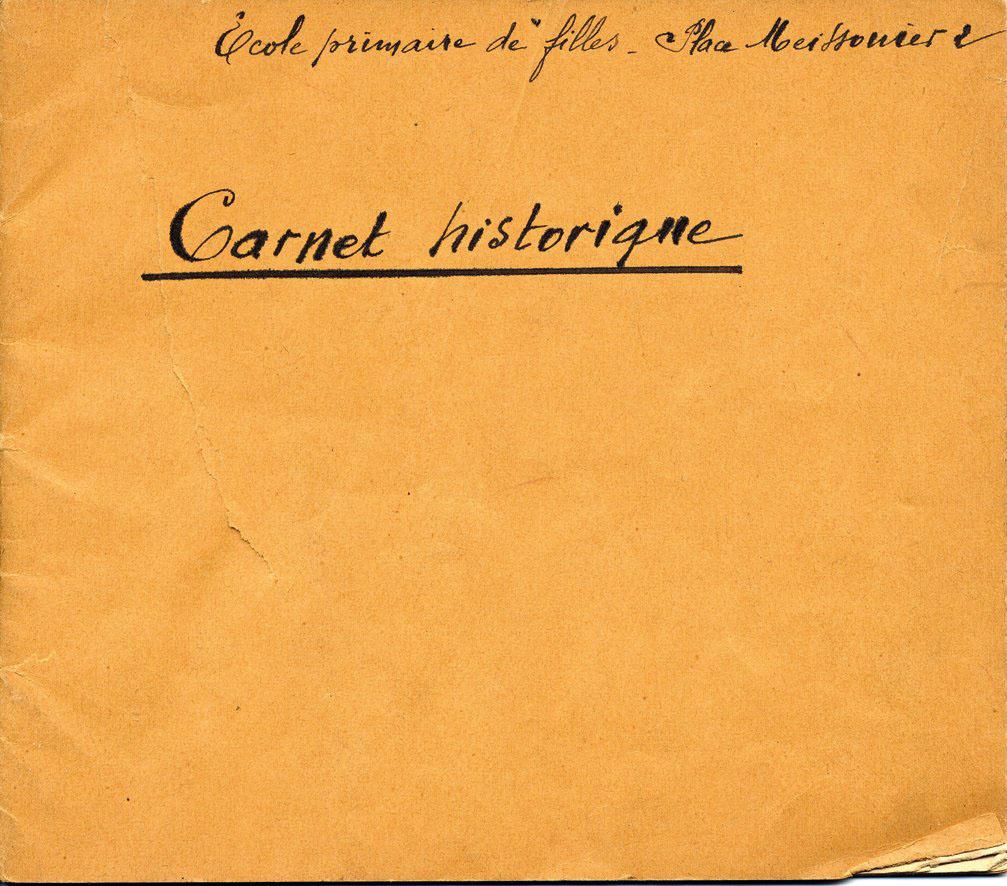 Carnet Historique - Meissonier / partie 1