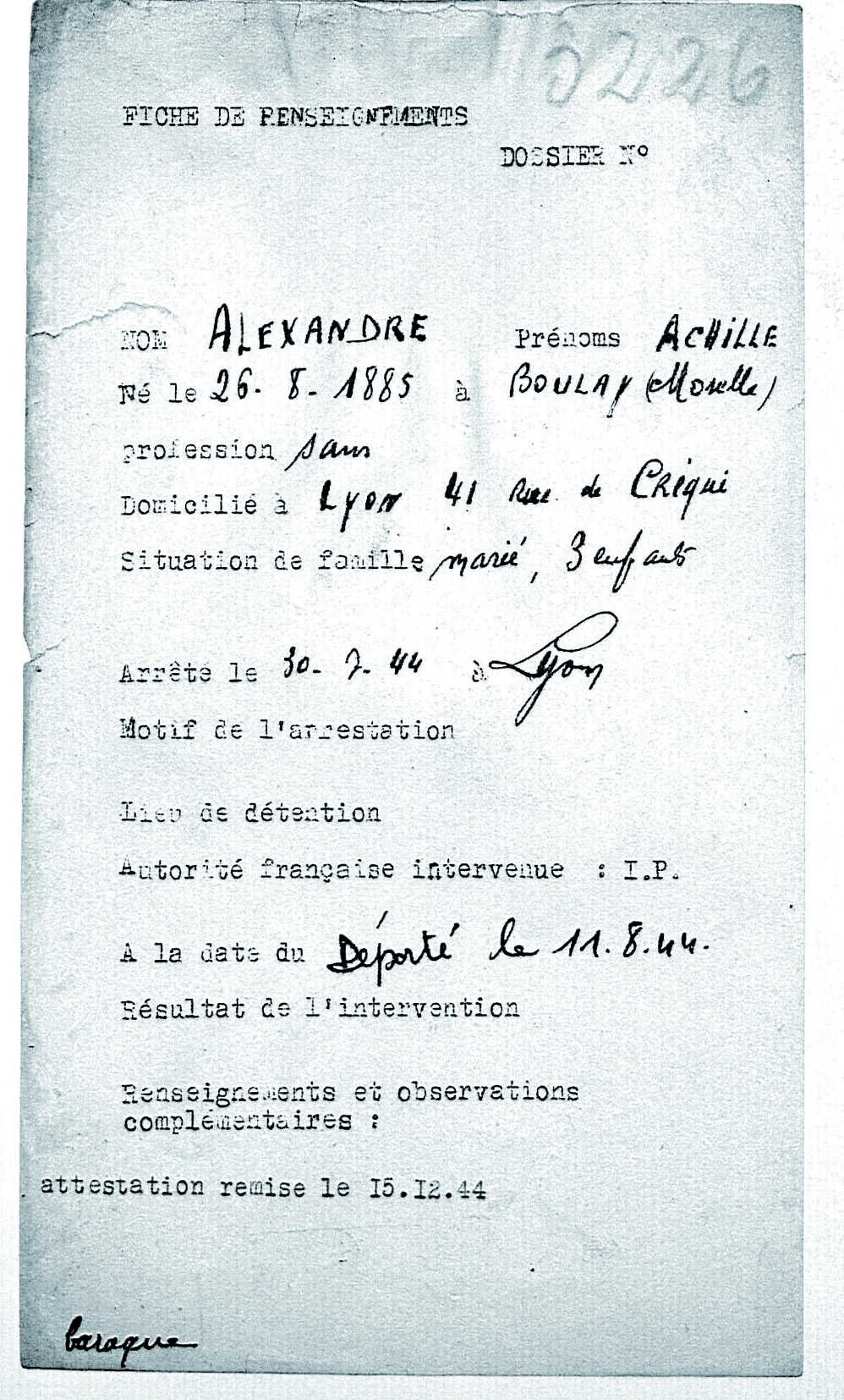 Alexandre / Lyon