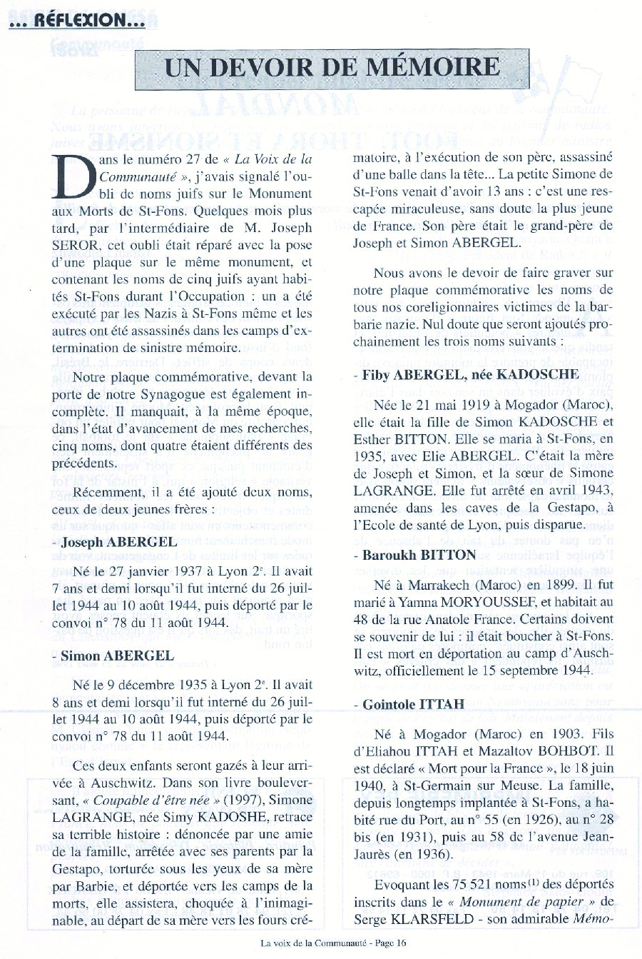 Abergel / Saint-Fons