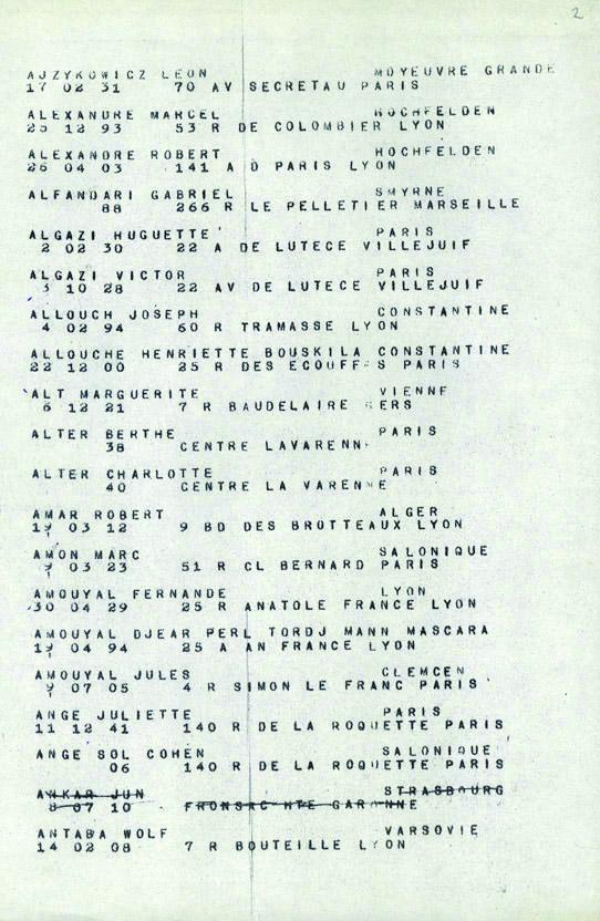 Amouyal-Fernande-convoi-77 (Liste convoi de déportation)
