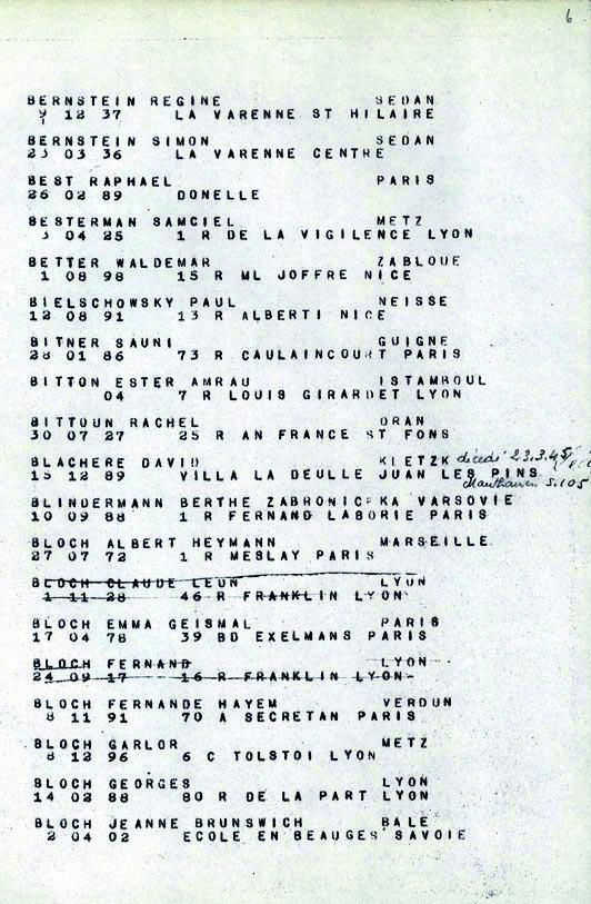 Bloch-Claude-Leon-convoi-77 (Liste convoi de déportation)