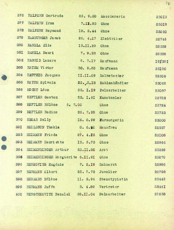 Heftler-Nadine-convoi-75 (Liste convoi de déportation)