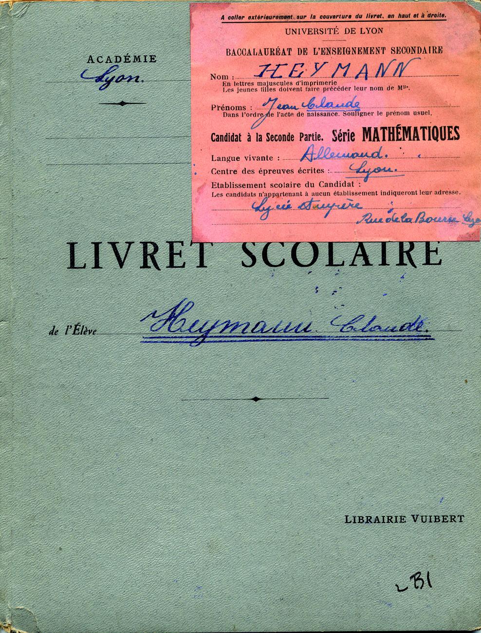 Heymann-Claude3 (Livret scolaire)