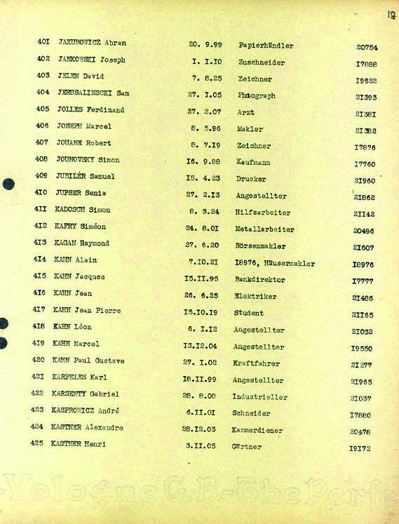 Kadosh-Simon-convoi-73 (Liste convoi de déportation)