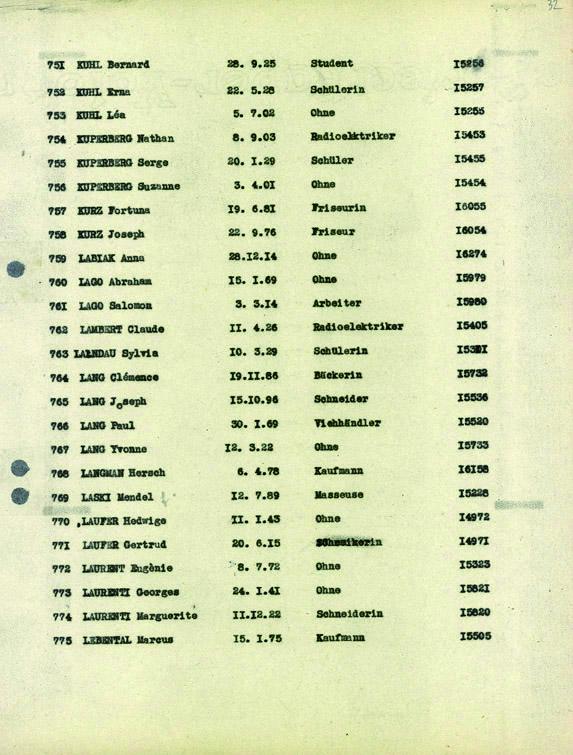 Lambert-Claude-convoi-69 (Liste convoi de déportation)