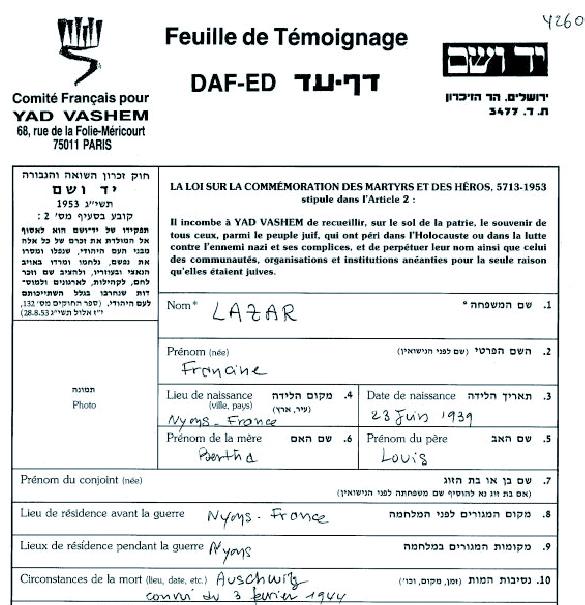 Lazare-Francine-YVS-cadre (Fiche)