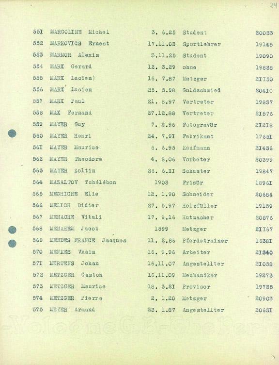 Marx-Gerard-convoi-73 (Liste convoi de déportation)