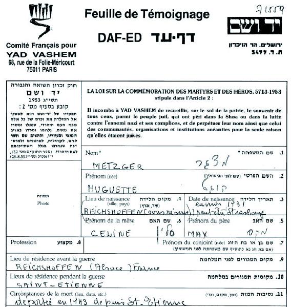 Metzger-Huguette-YVS-cadre (Fiche)